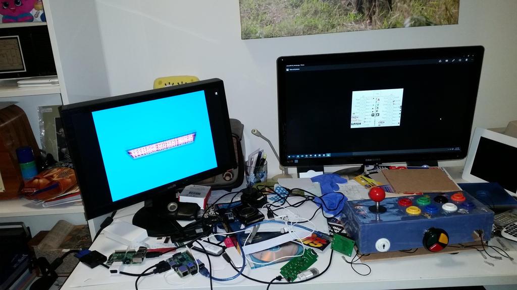 Toshiba 5SE arcade test setup 2 by dev-catscratch