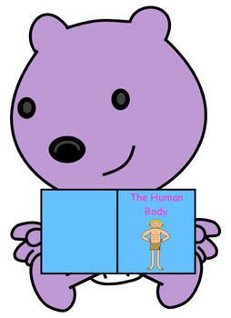 Baby Walden reading a human body book
