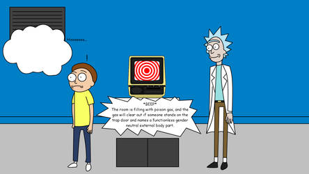 Rick and Morty have to answer a riddle