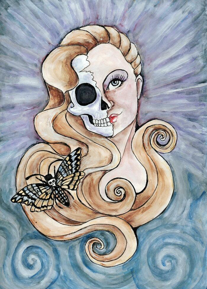 Hel  goddess of the underworld. by BostinButterfly