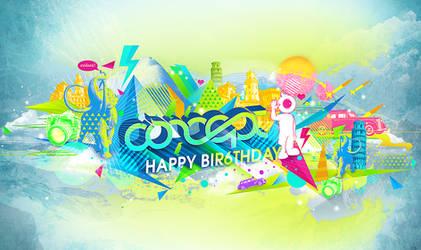 Happy Bir6thday Concept