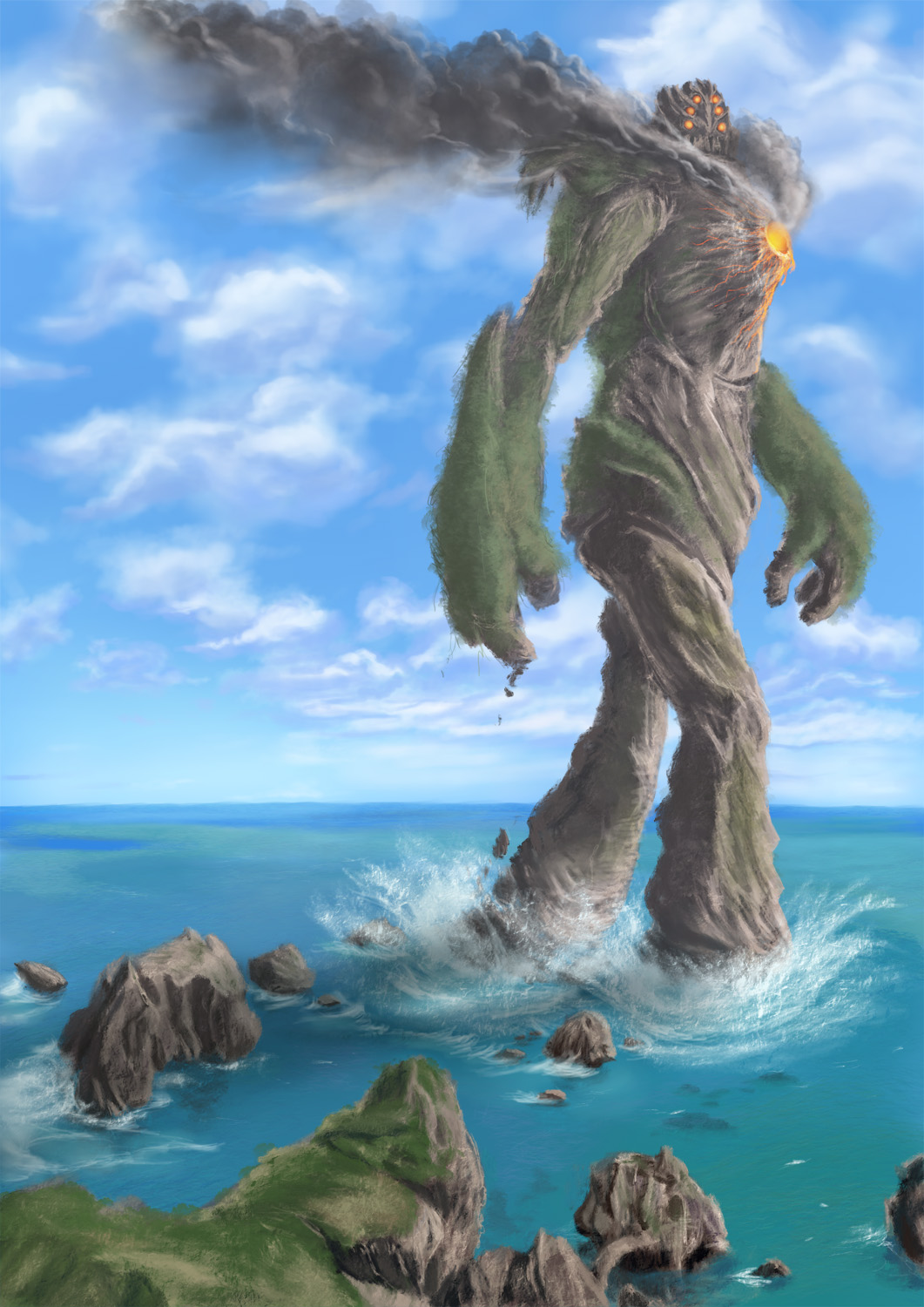 Earth Colossus by alecyl