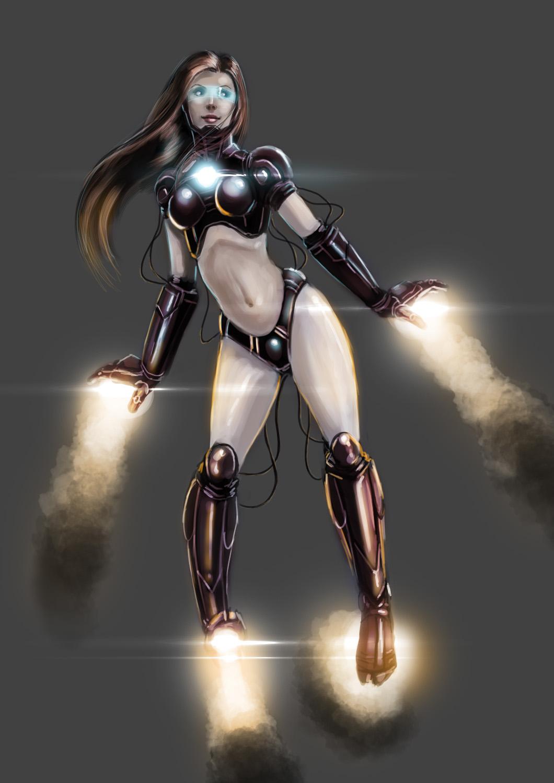Iron girl naked hentai photo