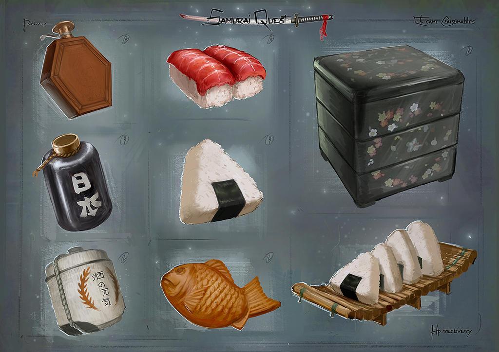 Samurai Quest: Consumables by victorkallqvist