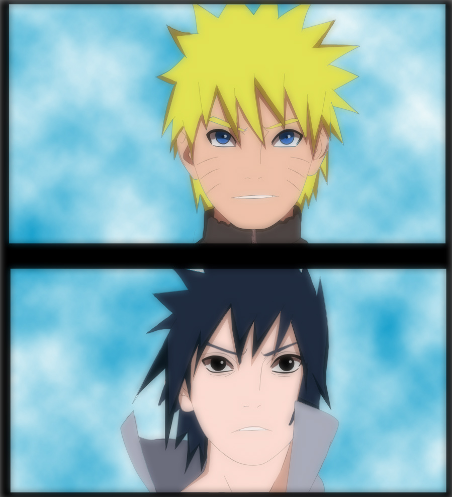 Naruto and Sasuke by Naruto-lover16
