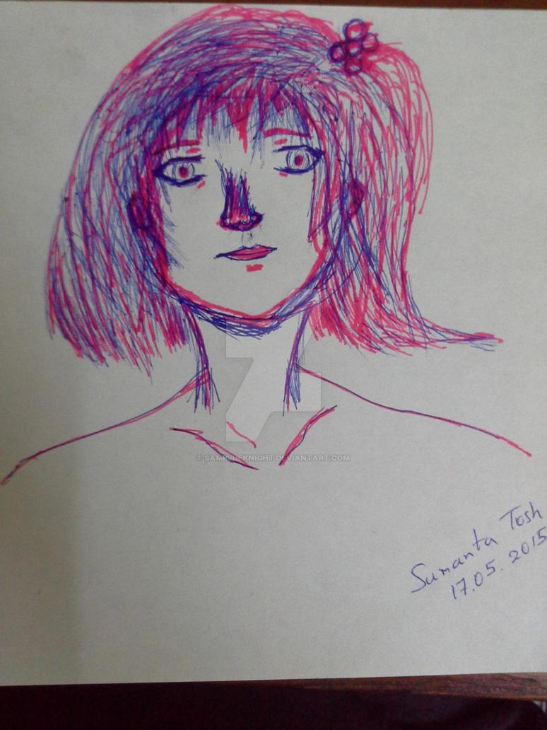 Pen drawing - practice by SamBlueknight