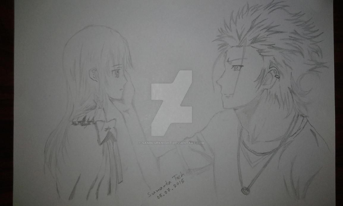 Anna Kushina and Mikoto Suoh by SamBlueknight