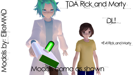 MMD TDA Rick and Morty Models DL by EllieMMD