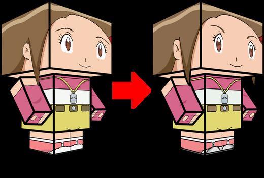 Hikari Yagami-Kari Kamiya Comparison 3D