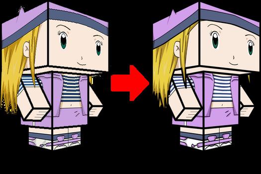 Izumi Orimoto - Zoe Orimoto Comparison 3D