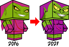 Norman Osborn - Green Goblin  Comparison 3D