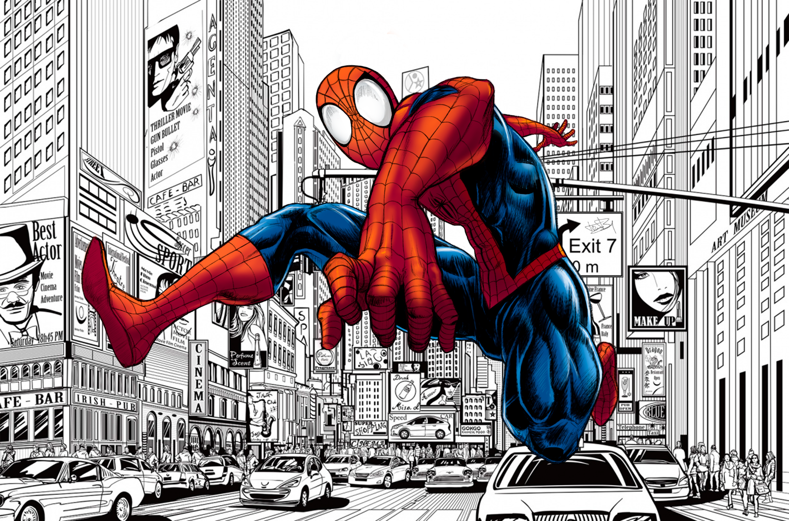 Spider man comic book style by kevinfrank123 on deviantart - Image spiderman ...