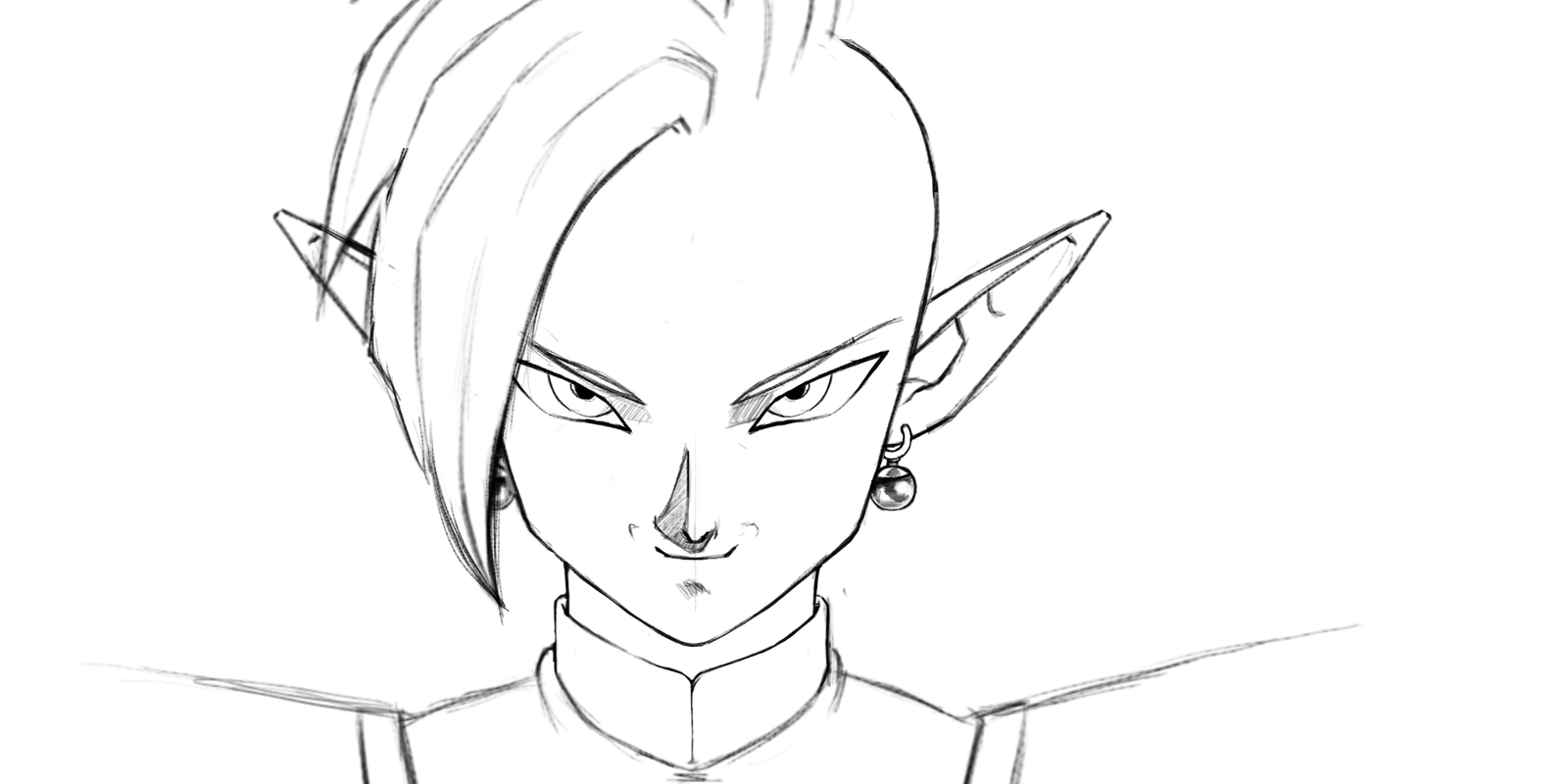 In-progress Zamasu From Dragon Ball Super By KevinFrank123