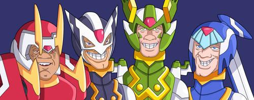 Four Guardians Of X by Accel-Razer