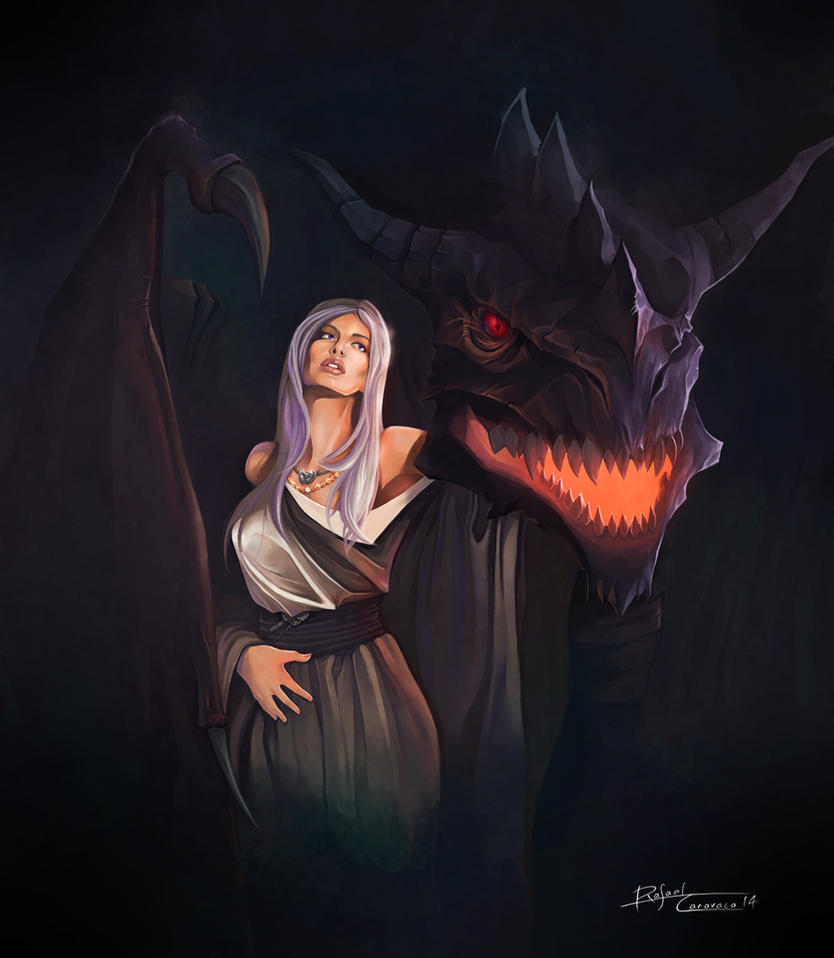 Daenerys and Drogon by Dr-Salvador