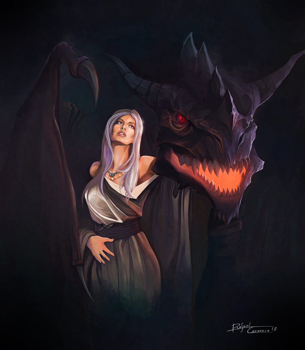 Daenerys and Drogon by Dr-Salvador