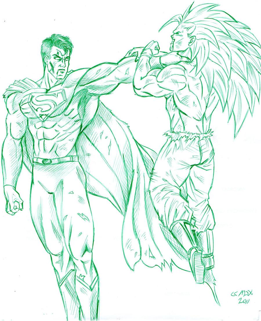 superman vs goku by nighwalker666 on DeviantArt
