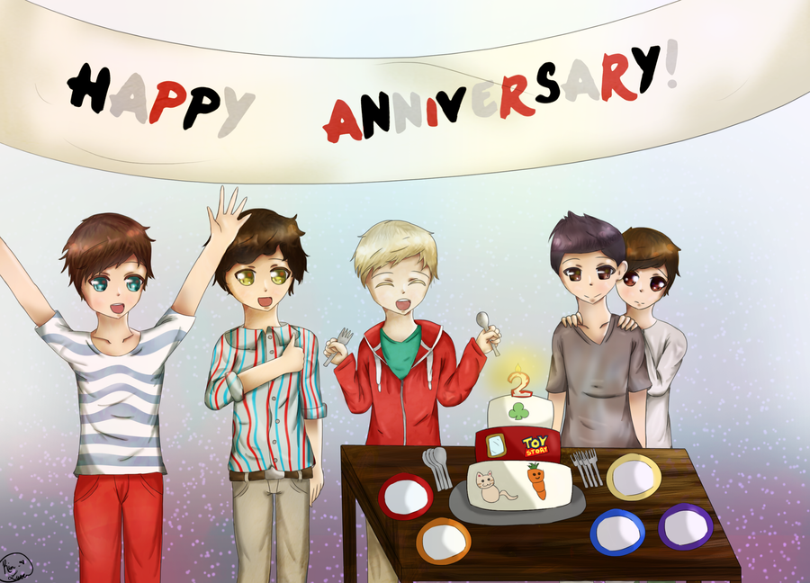 Happy second anniversary one direction by rin luver on deviantart happy second anniversary one direction by rin luver voltagebd Choice Image