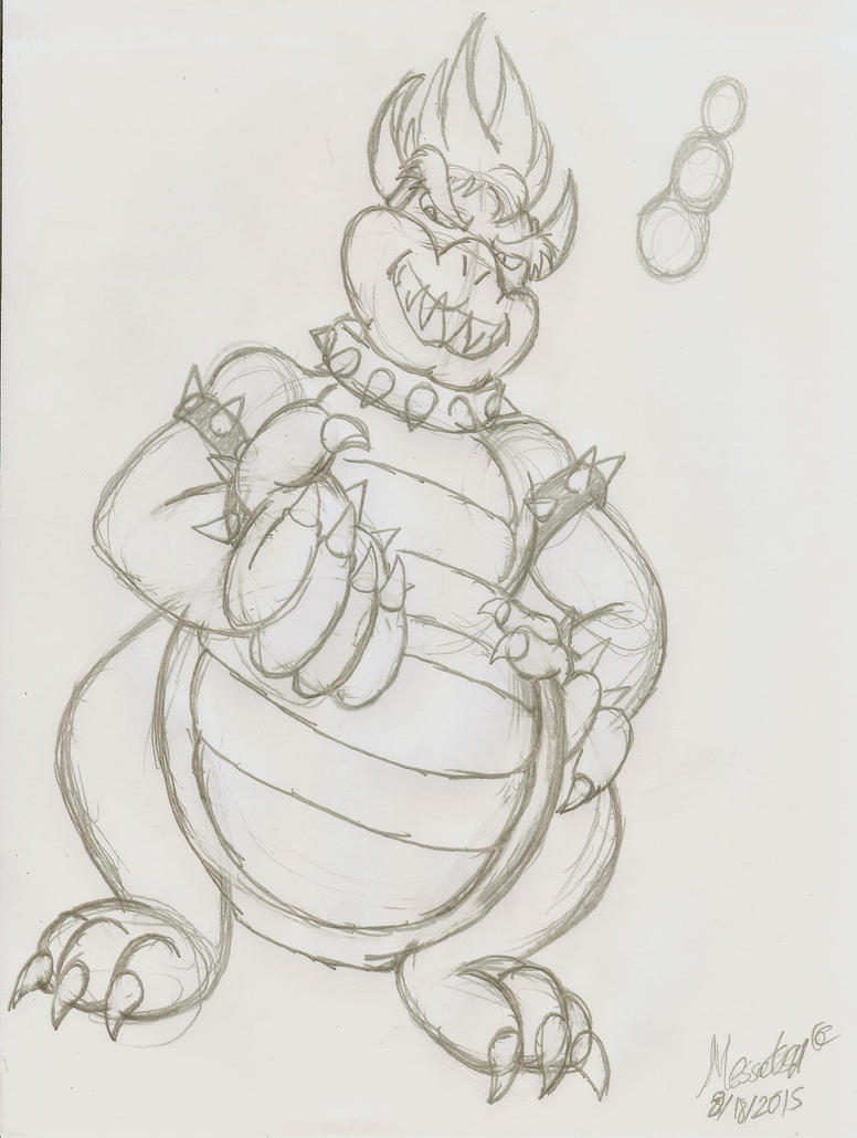Simple Bowser Sketch by MessatsuGouFox