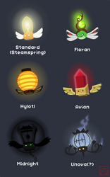 Lumoth Variants by AvianHandicrafter