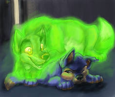 Annoying Night Light by 0okamiseishin