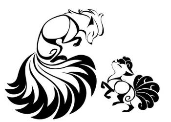 Ninetales And Vulpix Tattoos by 0okamiseishin