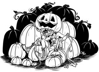 Pumpkin head by 0okamiseishin