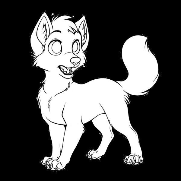 Line Drawing Fox : Little fox lineart by okamiseishin on deviantart