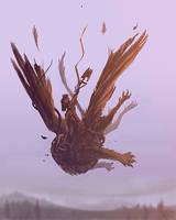 Speedpaint: Free Fall by derangedhyena