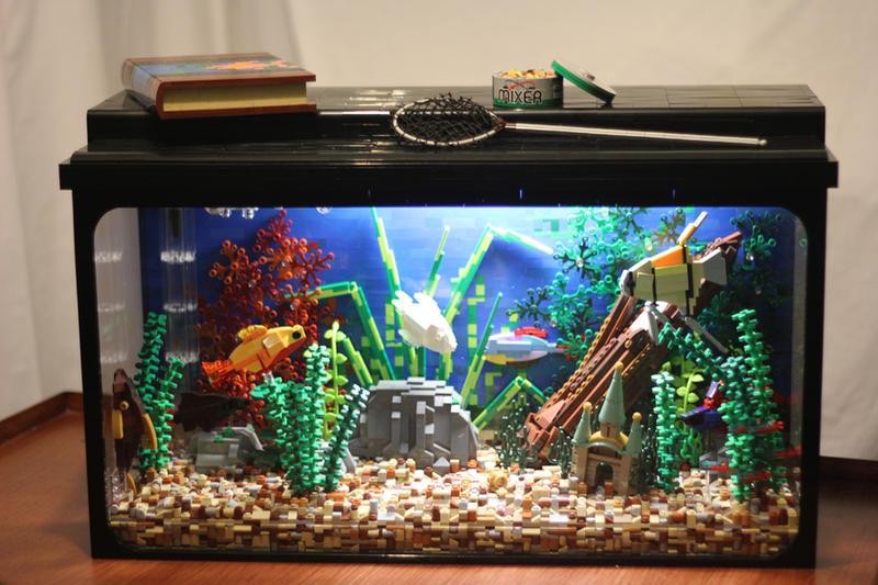 Tropical aquarium front view by janetvand on deviantart