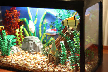 Tropical Aquarium ~ Right-hand Side by JanetVanD