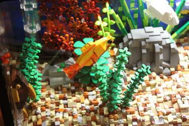 Tropical Aquarium ~ Plecostomus and Friends by JanetVanD