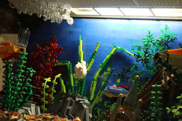 Tropical Aquarium ~ Bubbles in Motion by JanetVanD