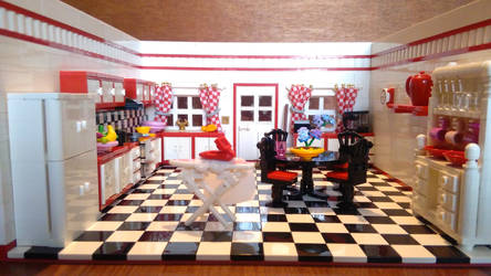 Random Rooms - Kitchen, front view by JanetVanD