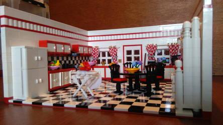 Random Rooms - Kitchen, left side by JanetVanD