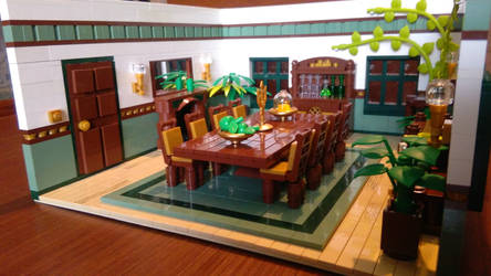 Random Rooms - Dining Room, left side by JanetVanD