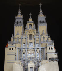 Santiago de Compostela Cathedral - Front View by JanetVanD