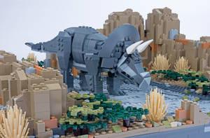 Jurassic Brick - Triceratops Inset