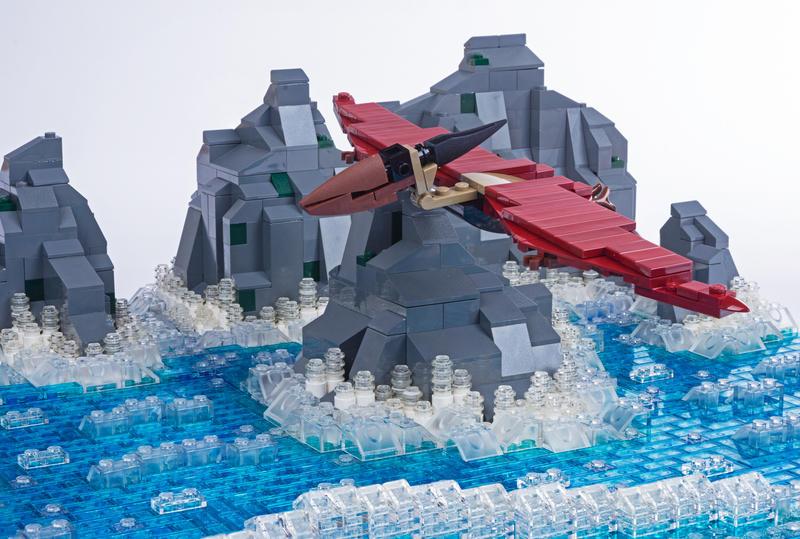Jurassic Brick - Pterandon Inset by JanetVanD