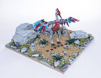 Jurassic Brick - Archaeopterix Diorama by JanetVanD