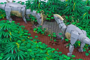 Jurassic Brick - Parasaurolophus Inset by JanetVanD