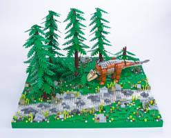 Jurassic Brick - Aletopelta Diorama by JanetVanD