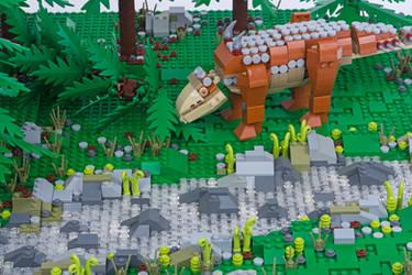 Jurassic Brick - Aletopelta Inset by JanetVanD