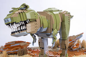 Juassic Brick - Tyrannosaurus Inset by JanetVanD