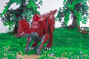 Jurassic Brick - Corythosaurus Inset by JanetVanD