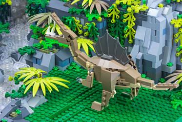 Jurassic Brick - Spinosaurus Inset by JanetVanD