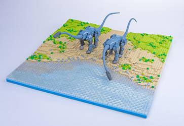 Jurassic Brick - Diplodocus Diorama by JanetVanD