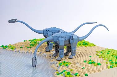 Jurassic Brick - Diplodocus Inset by JanetVanD