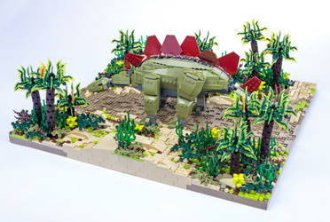 Jurassic Brick - Stegosaurus Diorama by JanetVanD