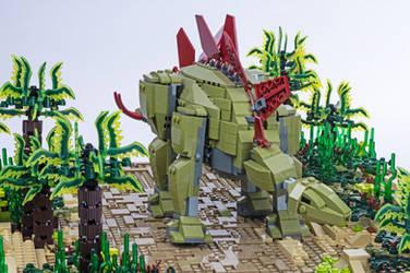Jurassic Brick - Stegosaurus Inset by JanetVanD